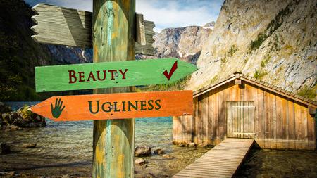 Street Sign Beauty versus Ugliness