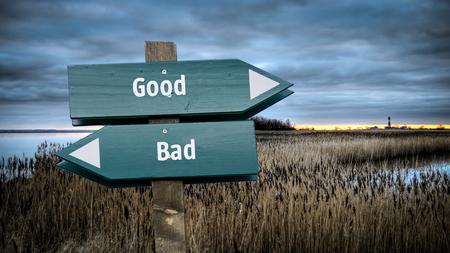Street Sign Good versus Bad 版權商用圖片