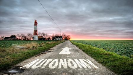 Street Sign to Autonomy Stok Fotoğraf