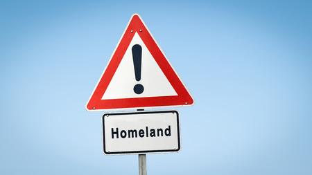 Straßenschild zur Heimat