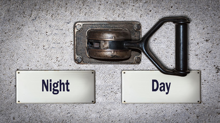 Wall Switch the Direction Way to Day versus Night