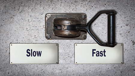 Wall Switch the Direction Way to Fast versus Slow