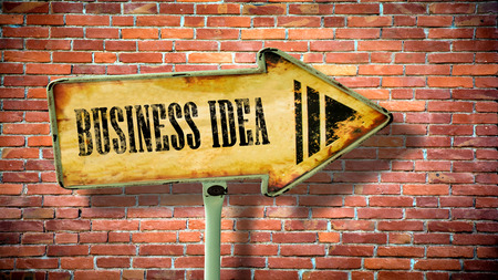 Street Sign the Direction Way to Business Idea