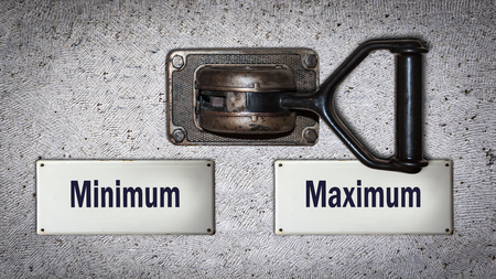 Wall Switch the Direction Way to Maximum versus Minimum