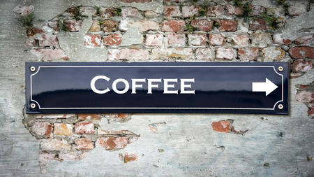 Street Sign the Direction Way to Coffee