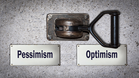 Wall Switch the Direction Way to Optimism versus Pessimism Reklamní fotografie