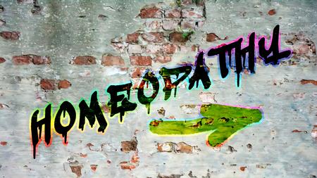 Wall Graffiti the Direction Way to Homeopathy