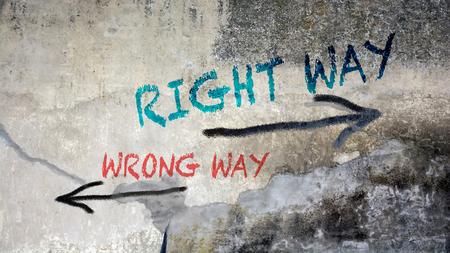 Wall Graffiti RIGHT WAY versus WRONG WAY