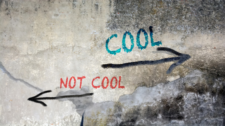 Wall Graffiti the Direction Way to Cool versus Uncool