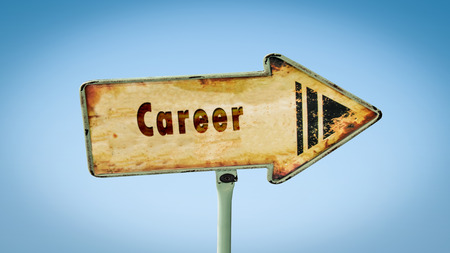 Street Sign the Direction Way to Career Imagens