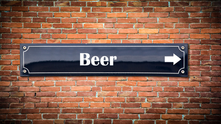 Street Sign the Direction Way to Beer