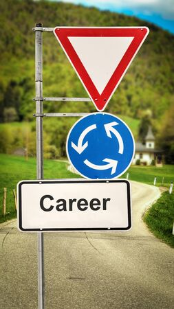 Street Sign the Direction Way to Career Banco de Imagens