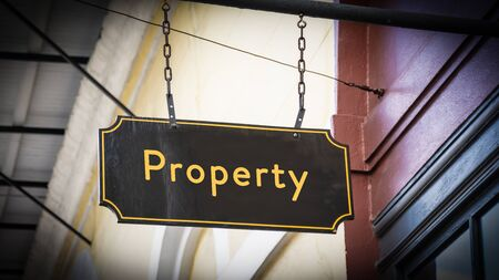 Street Sign the Direction Way to Property