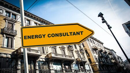 Street Sign the Direction Way to ENERGY CONSULTANT