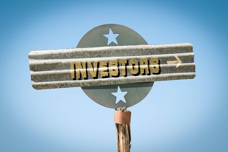 Street Sign the Direction Way to Investors Stock Photo - 124908525