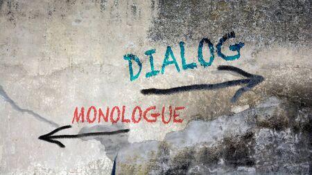 Wall Graffiti the Direction Way to Dialog versus Monologue