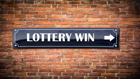 Street Sign the Direction Way to Lottery Win Zdjęcie Seryjne