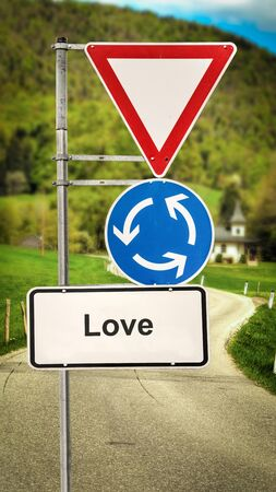 Street Sign the Direction Way to Love