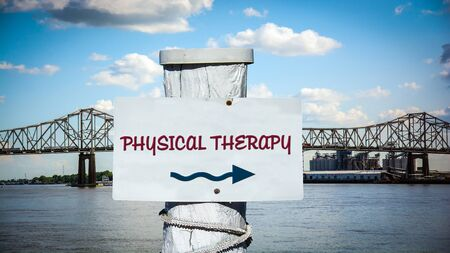 Street Sign the Direction Way to Physical Therapy