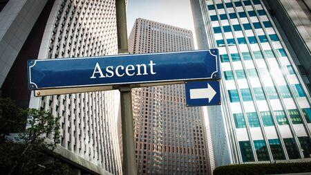 Street Sign the Direction Way to Ascent Zdjęcie Seryjne