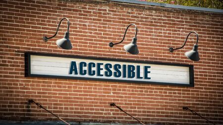 Street Sign the Direction Way to Accessible
