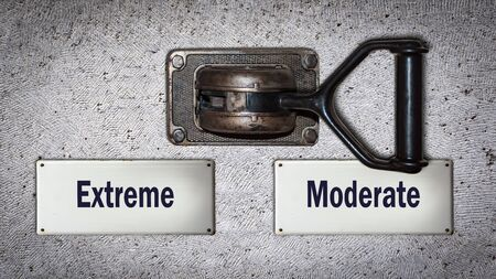 Wall Switch the Direction Way to Moderate versus Extreme
