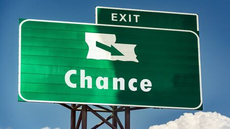 Street Sign the Direction Way to Chance