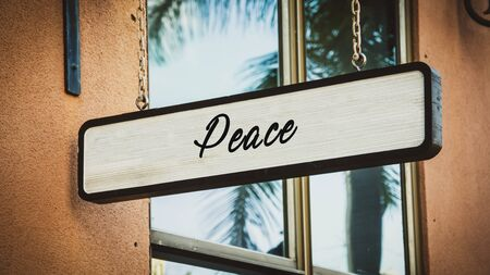 Street Sign the Direction Way to Peace