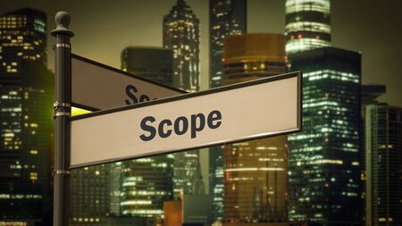 Street Sign the Direction Way to Scope