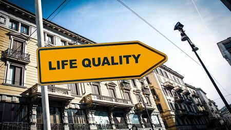 Street Sign the Direction Way to Life Quality Stock Photo