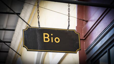 Street Sign the Direction Way to Bio