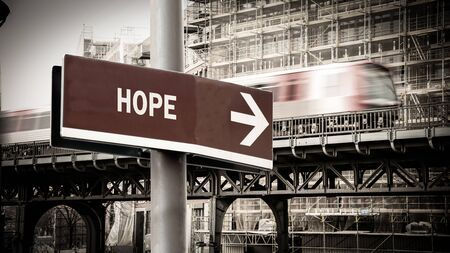 Street Sign the Direction Way to Hope