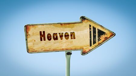 Street Sign the Direction Way to Heaven Imagens
