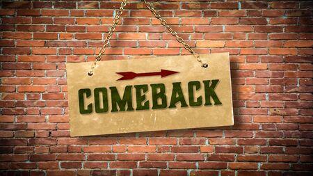 Street Sign the Direction Way to Comeback Archivio Fotografico - 130129165