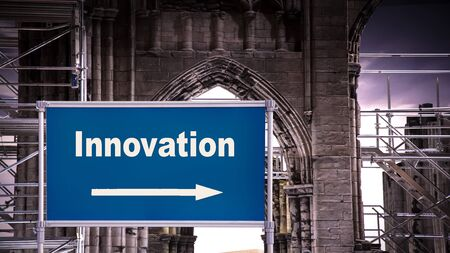 Street Sign the Direction Way to Innovation