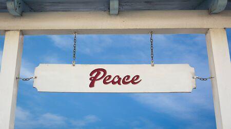 Street Sign the Direction Way to Peace Reklamní fotografie
