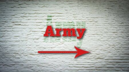 Street Sign the Direction Way to Army