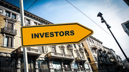 Street Sign the Direction Way to Investors