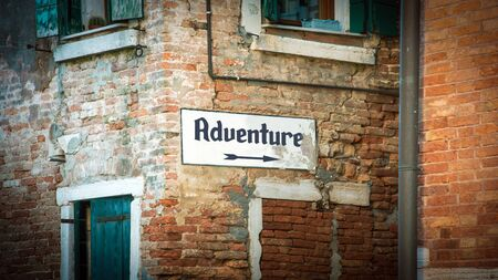 Street Sign the Direction Way to to Adventure