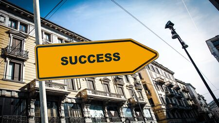 Street Sign the Direction Way to Successs