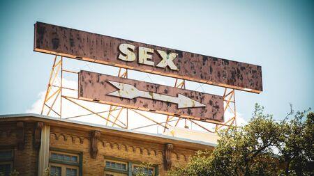 Plaque de rue le chemin vers le SEXE