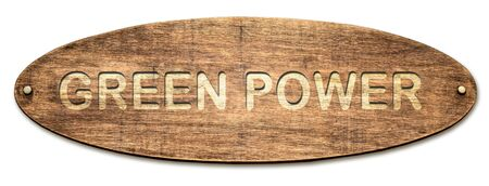 Street Sign the Direction Way to Green Power Фото со стока - 131828465