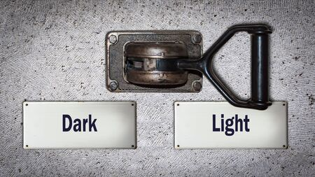 Wall Switch the Direction Way to Light versus Dark