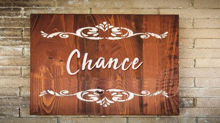 Street Sign the Direction Way to Chance Zdjęcie Seryjne