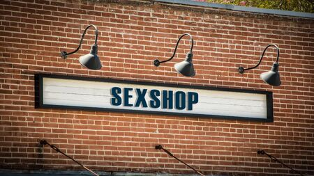 Street Sign the Direction Way to Sexshop Imagens
