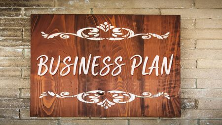 Street Sign the Direction Way to Business Plan Imagens