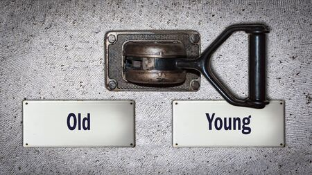 Wall Switch the Direction Way to Young versus Old