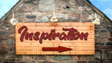 Street Sign the Direction Way to Inspiration
