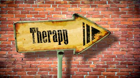 Street Sign the Direction Way to Therapy Stock fotó - 133444359