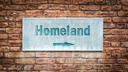 Street Sign the Direction Way to Homeland